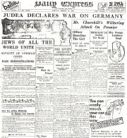 Daily Express Morgenausgabe: Judea Declares War on Germany
