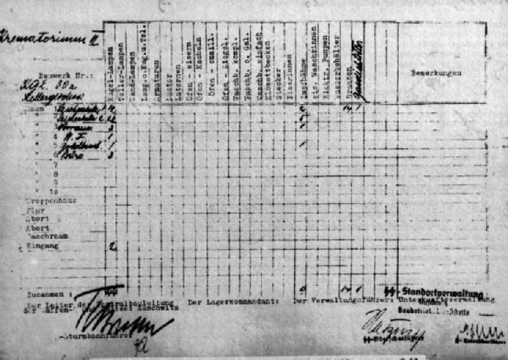 Holocaust-Referenz : Fußboden betonieren in Gaskammer